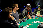 Mike Beasley stares down Vanessa Selbst in a big pot.
