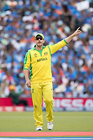 Aaron Finch (Australia) during India vs Australia, ICC World Cup Cricket at The Oval on 9th June 2019