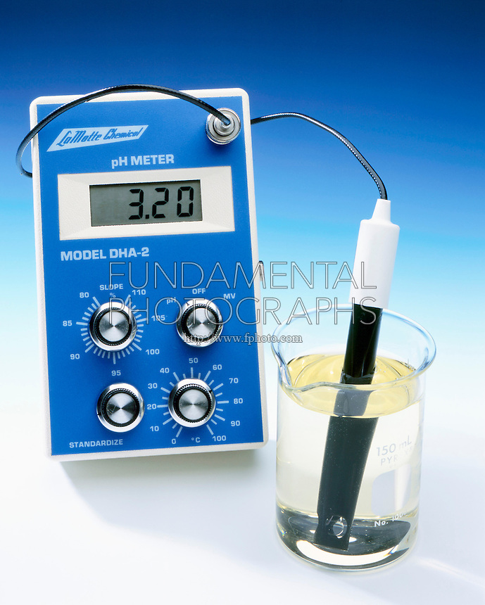 pH METER, BROMOTHYMOL BLUE & AL2(SO4)3 (aq): 2 of 4<br /> Indicator & Acidic Property of Hydrated Metal Ion<br /> An Aluminum Sulfate solution is somewhat acidic as shown by the yellow color of the indicator & the pH value of 3.20.  Bromothymol blue indicator reflects a pH range of  3.5-9.5.