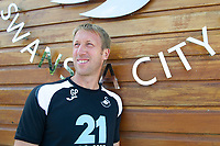 Swansea City FC manager Graham Potter at the Fairwood Training Ground, south Wales, UK. Wednesday 01 August 2018