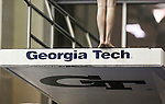 19 MAR 2016: A diver prepares to leap off the 5 meter platform during the Division I Women's Swimming & Diving Championship held at the Georgia Tech Aquatic Center in Atlanta, GA. David Welker/NCAA Photos