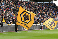 Wolves flag and the North Bank during Wolverhampton Wanderers vs Brighton & Hove Albion, Premier League Football at Molineux on 7th March 2020