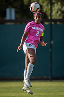 STANFORD, CA - OCTOBER 12: Naomi Girma #2 of the Stanford Cardinal during a game between the Stanford Cardinal and Washington Huskies women's soccer teams at Cagan Stadium on October 6, 2019 in Stanford, California. during a game between University of Washington and Stanford Soccer W at Laird Q. Cagan Stadium on October 12, 2019 in Stanford, California.