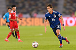 Muto Yoshinori of Japan in action during the AFC Asian Cup UAE 2019 Group F match between Oman (OMA) and Japan (JPN) at Zayed Sports City Stadium on 13 January 2019 in Abu Dhabi, United Arab Emirates. Photo by Marcio Rodrigo Machado / Power Sport Images