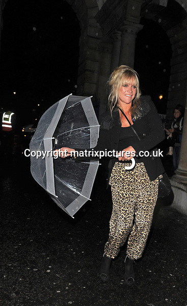 NON EXCLUSIVE PICTURE: PALACE LEE / MATRIXPICTURES.CO.UK<br /> PLEASE CREDIT ALL USES<br /> <br /> WORLD RIGHTS<br /> <br /> English socialite Jo Wood attending a show during S/S 2014 London Fashion Week.<br /> <br /> SEPTEMBER 13th 2013<br /> <br /> REF: LTN 136106