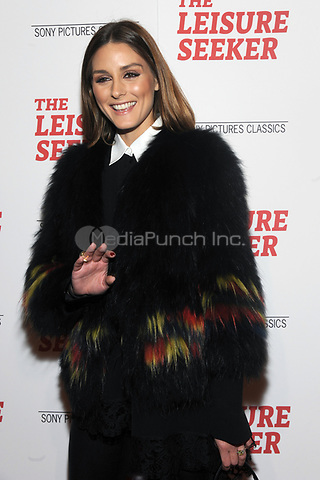 NEW YORK, NY - JANUARY 11:  Olivia Palermo at The Leisure Seeker New York Screening at AMC Loews Lincoln Square in New York City on January 11, 2018. Credit: John Palmer/MediaPunch