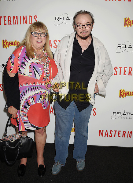 HOLLYWOOD, CA - SEPTEMBER 26: Actor Bud Cort (R) and guest attend the premiere of Relativity Media's 'Masterminds' held at TCL Chinese Theatre on September 26, 2016 in Hollywood, California.<br /> CAP/ROT/TM<br /> &copy;TM/ROT/Capital Pictures