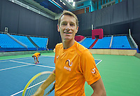Moskou, Russia, Februari 3, 2016, Fed Cup Russia-Netherlands,  Practise Dutch team,  captain Paul Haarhuis <br /> Photo: Tennisimages/Henk Koster