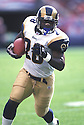 St. Louis Rams, Marshall Faulk (28)  during a game against from his 2002 season. Marshall Faulk played for 12 years with 2 different teams, was a 7-time Pro Bowler and was inducted to the Pro Football Hall of Fame in 2011.
