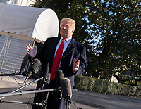 January 6, 2019 - Washington, DC, United States: United States President Donald J. Trump speaks to the media as he departs the White House headed to Camp David. Photo Credit: Chris Kleponis/CNP/AdMedia