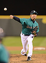 Hisashi Iwakuma (Mariners),.APRIL 12, 2013 - MLB :.Hisashi Iwakuma of the Seattle Mariners pitches during the baseball game against the Texas Rangers at Safeco Field in Seattle, Washington, United States. (Photo by AFLO)