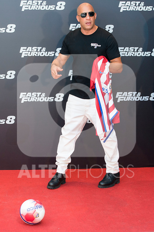 "American actor Vin Diesel during the presentation of the film ""Fast & Furious 8"" at Hotel Villa Magna in Madrid, April 06, 2017. Spain.<br /> (ALTERPHOTOS/BorjaB.Hojas)"