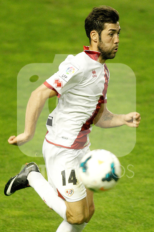 Rayo Vallecano's Alberto Perea during La Liga match.September 21,2013. (ALTERPHOTOS/Acero)