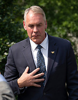 United States Secretary of the Interior Ryan Zinke Meets Reporters