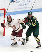 Kenzie Kent (BC - 12), Rachael Ade (UVM - 7) -  The Boston College Eagles defeated the University of Vermont Catamounts 4-3 in double overtime in their Hockey East semi-final on Saturday, March 4, 2017, at Walter Brown Arena in Boston, Massachusetts.