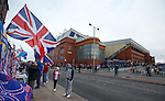 Pre-match at Ibrox Stadium