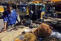 Asie/Inde/Rajasthan/Jaipur : Tripolia Bazar - Marchand de snacks
