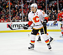 JAROME IGINIA,  of the Calgary Flames in action  during the Flames  game against the Chicago Blackhawks at the United Center in Chicago, IL.  The Chicago Blackhawks beat the Calgary Flames 4-2 in Chicago, Illinois on December 5, 2011....