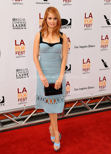 WWW.ACEPIXS.COM<br /> <br /> June 23 2013, LA<br /> <br /> Debby Ryan at the 2013 Los Angeles Film Festival premiere of the Fox Searchlight Pictures' 'The Way, Way Back' held on June 23, 2013 in Los Angeles, California.<br /> <br /> By Line: Peter West/ACE Pictures<br /> <br /> <br /> ACE Pictures, Inc.<br /> tel: 646 769 0430<br /> Email: info@acepixs.com<br /> www.acepixs.com