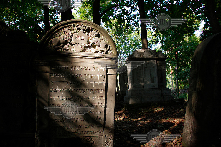 Graves in the Jewish cemetery in Warsaw.