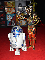 R2-D2 &amp; C-3PO at the world premiere for &quot;Star Wars: The Last Jedi&quot; at the Shrine Auditorium. Los Angeles, USA 09 December  2017<br /> Picture: Paul Smith/Featureflash/SilverHub 0208 004 5359 sales@silverhubmedia.com