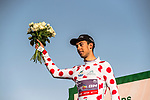 Angel Fuentes Paniego (ESP) Burgos-BH wears the most aggresive Jersey at the end of Stage 2 of the Saudi Tour 2020 running 187km from Sadus Castle to Al Bujairi, Saudi Arabia. 5th February 2020. <br /> Picture: ASO/Kåre Dehlie Thorstad | Cyclefile<br /> All photos usage must carry mandatory copyright credit (© Cyclefile | ASO/Kåre Dehlie Thorstad)