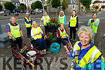 The members of the Listowel Tidy Towns gather in the square on Thursday evening.<br /> Front right: Julie Gleeson.<br /> First row l to r: Jackie Barrett Madigan, Mary Hanlon and Liz Horgan.<br /> Back l to r: Peter O'Sullivan, Daisy Foley, Imelda Murphy, Joan Byrne and Colette Foran