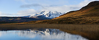 Autumn reflection of Bla Bheinn - Blaven in Loch Cill Chriosd, Isle of Skye, Scotland.
