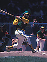Oakland A's Reggie Jackson (9)  during a game from his 1974 season. Reggie Jackson played for 21 years with 4 different teams, was a 14-time All-Star, 1973 American League MVP and was inducted to the Baseball Hall of Fame in 2009(David Durochik/SportPics)(David Durochik/SportPics)