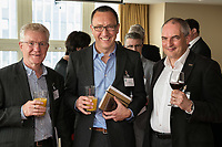 Pictured from left are Martin Hall of Halls Locksmiths, Matt Arnold of Five Nine Five and John Read of Arup