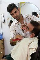 Tripoli, Libya - Barber Shop, Tripoli Medina, Shaving Customer