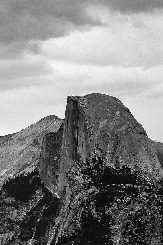 Half Dome from Glaicer Point, Yosemite NP,  35mm image on Ilford Delta 100 film