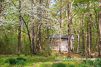 63895-16001 Cabin at Log Cabin Village in spring Kinmundy IL