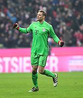 Fussball  1. Bundesliga  Saison 2016/2017  16. Spieltag  FC Bayern Muenchen - RB Leipzig        21.12.2016 JUBEL Torwart Manuel Neuer (FC Bayern Muenchen)