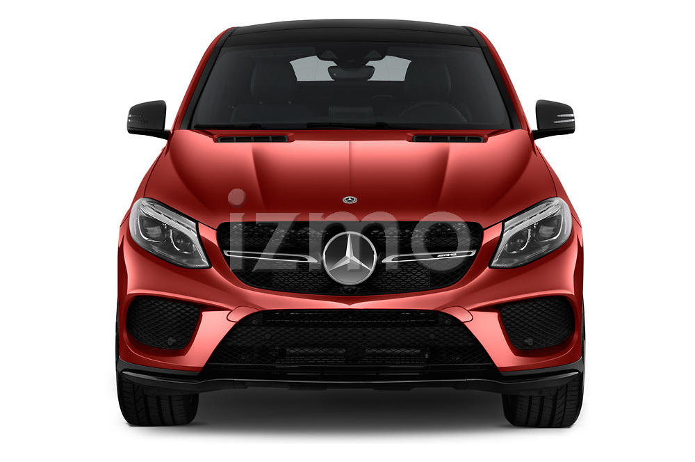 Car photography straight front view of a 2019 Mercedes Benz GLE-Class Coupe GLE43 AMG 4MATIC 5 Door SUV