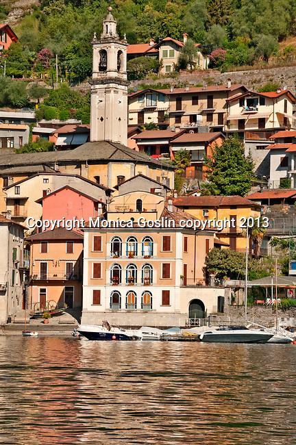 Town of Sala Comacina on Lake Como, Italy