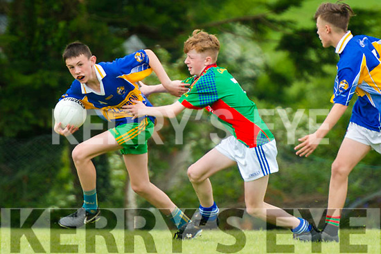Eoghan Ruadh vs Mid Kerry U14 Football County Championship at the Kilcumin GAA last Sunday. Pictured are Oran Dwyer (Mid Kerry) in action with Charlie Foley  (Eoghan Ruadh).