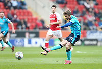 Conor McAleny of Fleetwood Town during the Sky Bet League 1 match between Rotherham United and Fleetwood Town at the New York Stadium, Rotherham, England on 7 April 2018. Photo by Leila Coker.