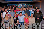 BIRTHDAY: Sean Kelly(seated 4th from left) Derrymore East, who celebrated his 21st Birthday in the Abbey Inn Bar & Restaurant, Tralee on Friday night with his family and friends...................