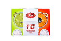 Takeaway Thai for 2, Green and Red Thai Chicken curry & rice meal box. Tulsi photoshoot at Tulsi in Wellington, New Zealand on Thursday, 14 November 2019. Photo: Dave Lintott / lintottphoto.co.nz