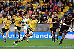 Hurricanes' Matt Proctor in action during the Super Rugby - Hurricanes v Chiefs at Westpac Stadium, Wellington, New Zealand on Friday 13 April 2018.<br /> Photo by Masanori Udagawa. <br /> www.photowellington.photoshelter.com