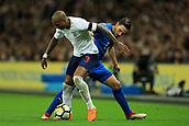 27th March 2018, Wembley Stadium, London, England; International Football Friendly, England versus Italy; Ashley Young of England battles with Mattia De Sciglio of Italy