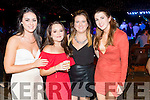 Nicky O'Sullivan Chloe O'Halloran Fiona O'Donoghue and Martina Quirke, Tralee, who attended the Austin Stacks Strictly Come Dancing held in the Dome, Tralee on Saturday night