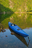 Touring kayak on Wilbur Lake (TVA), Cherokee National Forest