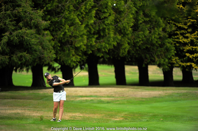 Amelia Garvey. The final day of the Jennian Homes Charles Tour Lawnmaster Classic Manawatu Open at Manawatu Golf Club, Palmerston North, New Zealand on Saturday, 20 March 2016. Photo: Dave Lintott / lintottphoto.co.nz