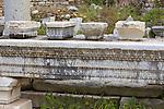 GReek Written On Stone, Ephesus