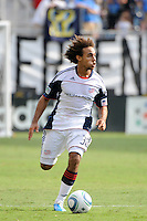 Kevin Alston (30) of the New England Revolution. The Philadelphia Union and the New England Revolution  played to a 1-1 tie during a Major League Soccer (MLS) match at PPL Park in Chester, PA, on July 31, 2010.