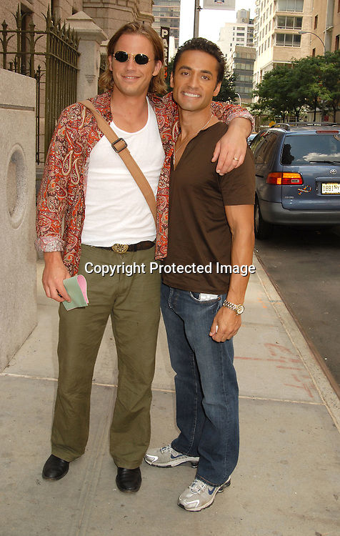 Forbes March and Kamar de los Reyes ..outside One Life to Live on July 24, 2006 at the studio. ..Robin Platzer, Twin Images