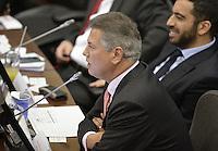 BOGOTA -COLOMBIA. 20-07-2014. Antonio Guerra de la Espriella, senador electo, durante la plenaria del Senado después de la instalación del Congreso de la República de Colombia por parte del presidente, Juan Manuel Santos en el Salón Elíptico del Capitolio Nacional./ Vivian Morales during the Senatre plenary after the installation of the Congress of the Republic of Colombia by the president, Juan Manuel Santosat Salon Eliptico in the National Capitol. Photo: VizzorImage/ Gabriel Aponte / Staff