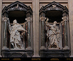 St James the Greater St Jacobus Major Camillo Rusconi 1718 St Thomas Pierre le Gros the Younger 1711 Composite image Borromini Niches Nave St John in Lateran Rome